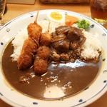 カレーハウス・キッチンY - ビーフカレー+うずらフライ