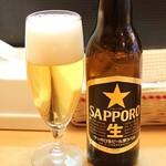 カレーハウス・キッチンY - サッポロビール小瓶