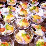 小石川テラス - マリネした旬魚と伝統野菜のピューレ シャンパングラスにて