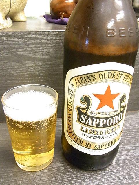 楽笑 - サッポロラガー大瓶¥490(税込)☆♪