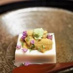 割烹 喜作 - 豆乳豆腐 塩水雲丹