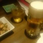 ベジバード - 生中と酢モツ