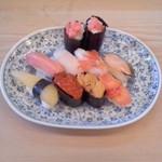 秀寿司 - 秀寿司(青森市堤町)おまかせにぎり3000円