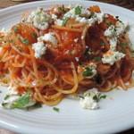 40873272 - ジャガイモと自家製リコッタチーズのトマトソースパスタ(大盛り)