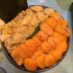 Sushikuni - こぼれウニ丼のメイン丼