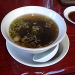 明蝦 - 五目焼きそばのスープ