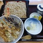 粋心庵 八幡 - 料理写真:天丼セット