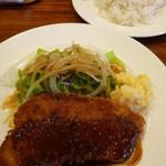 洋食屋 New 狸 - ポークカツレツ ライス付(1050円)
