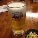 亀松 - 生ビール450円