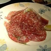 イタリアンレストラン アランチーニ 桜上水-これはサラミなんです!口の中でとろけるようでした。美味い!