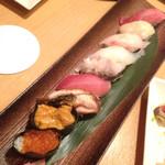 全席個室 鮮や一夜  - お寿司盛り合わせ