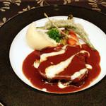 レストラン アラスカ - 【3】タンシチュー(Aコース8000円+税サ) 2015.6月