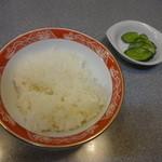 中国麺家万天 - 半ライス¥150☆