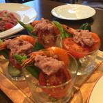 ビストロ はるかぜ - 海老と野菜のバーニャカウダ