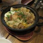 40895678 - ミックス・ホルモンと季節野菜の煮込み、半熟卵と共に1
