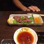 焼肉三松 - お代わりすると、レバーが少し厚く切られてました(笑)