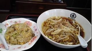 中華食堂一番館 - 「かけラーメンと半チャーハンセット(¥500)」
