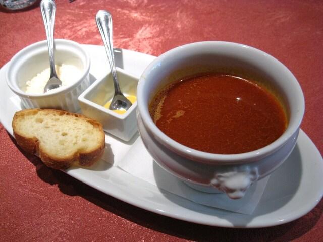 キノシタ - 新鮮な鯵と甘海老のスープ・ド・ポワレ