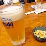 亀松 - 生ビール