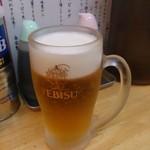 タンメンしゃきしゃき - ヱビス生ビール