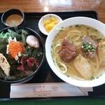 ばっしらいん - 宮古そば 海ぶどう丼セット¥1080