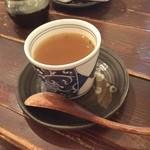 カフェロデオ - ロコモコにセットのスープ