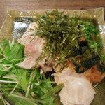 風林火山 - ゆで鶏と葉わさびおろしポン酢