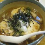 一番鳥 - 刻み海苔がほんのり香る、揚げ出し豆腐