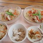 ガーデンレストラン - 「冷しちゃんぽんセット」(1000円)と単品の二人分