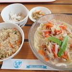 ガーデンレストラン - 「冷しちゃんぽんセット」(1000円)