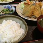 汐見 - 料理写真:ミックスフライ定食1,200円
