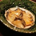 横浜野田岩 - アワビ煮 薄切りなのがちょっとさみしいものの味はGOOD