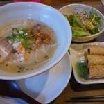 ぜん - 米らぁ麺チャーシュー入Aセット(揚げ春巻・ミニサラダ)