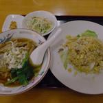 福園 - セットメニューの組み合わせから選んだ、拉麺+半炒飯