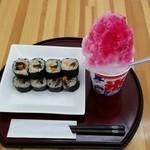 のりまきのすけ - 料理写真:いろどりキンパとかき氷セット