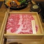 温野菜 - 黒毛和牛しゃぶしゃぶの肉