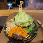 温野菜 - 『夕採れレタス』の野菜盛り