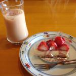 五右衛門  - ロイヤルミルクティー&苺のレアチーズケーキ