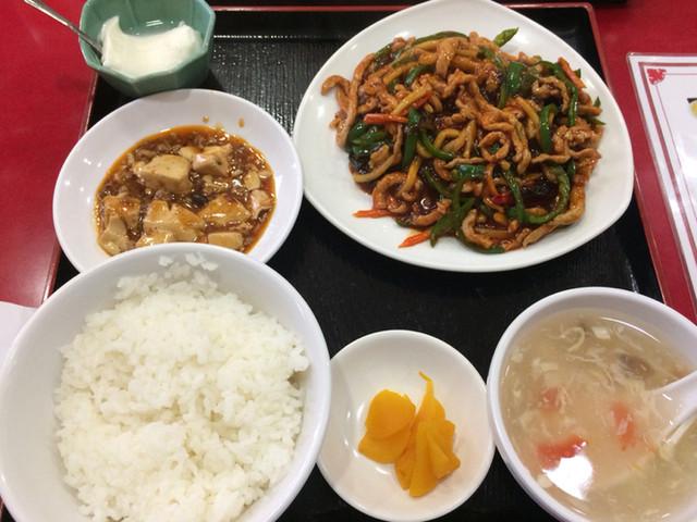 永利 西口店 - ランチ 豚肉細切りの四川風炒め