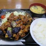 Kashiwaya - なす味噌炒め定食_2015/08