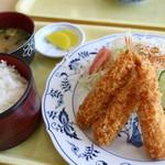 れんげ食堂 - 料理写真:海老フライ定食