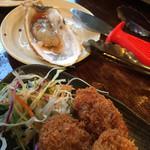浜の牡蠣小屋 - 牡蠣フライ