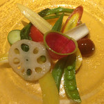 ブション・プロヴァンサル Chez AZUMA - 有機野菜のサラダ