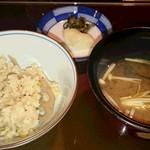 味季 和遊 - 蓮根ご飯&味噌汁