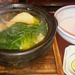 味季 和遊 - 鱧と鱧の卵 小鍋を使った土瓶蒸しの様な感じです