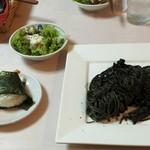 おとなり亭 - イカスミのパスタ 最高に美味しいです‼︎
