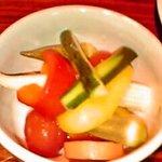 イタリア料理BAMBU - シェフ特製 野菜のマリネ