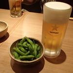 40930918 - 生ビール(中)と、お通しの枝豆