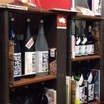 武の井酒造 - ドリンク写真:倉庫の一角に販売スペースがあります。