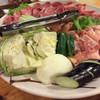 野宴 - 料理写真:焼肉と野菜盛り